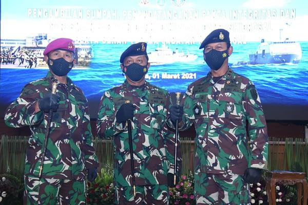 Dankormar Hadiri Upacara Peresmian Jabatan dan Serah Terima Jabatan Strategis TNI AL