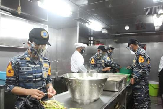 Prajurit KRI Bima Suci, Latih Taruna Prosedur Dukungan Logistik Di Kapal