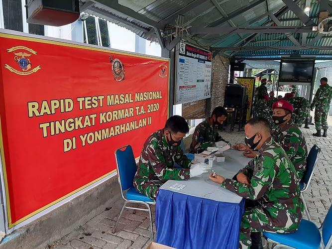 Pasmar 1 Laksanakan Rapid Test Massal Tahap Kedua