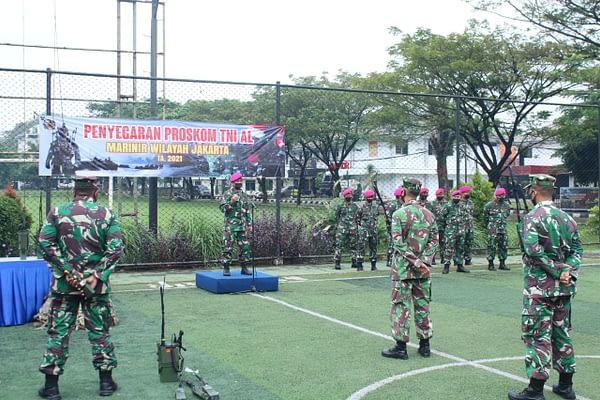 Jelang Latihan Armada Jaya XXXIX TA. 2021 Operator Radio Marinir Wilayah Jakarta Laksanakan Penyegaran Proskom