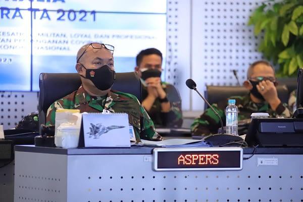 Rakorpers TNI AU Tahun 2021, Aspers Kasau: Kedepankan Quality Before Quantity dan Talent Pool Dalam Proses Rekrutmen Prajurit
