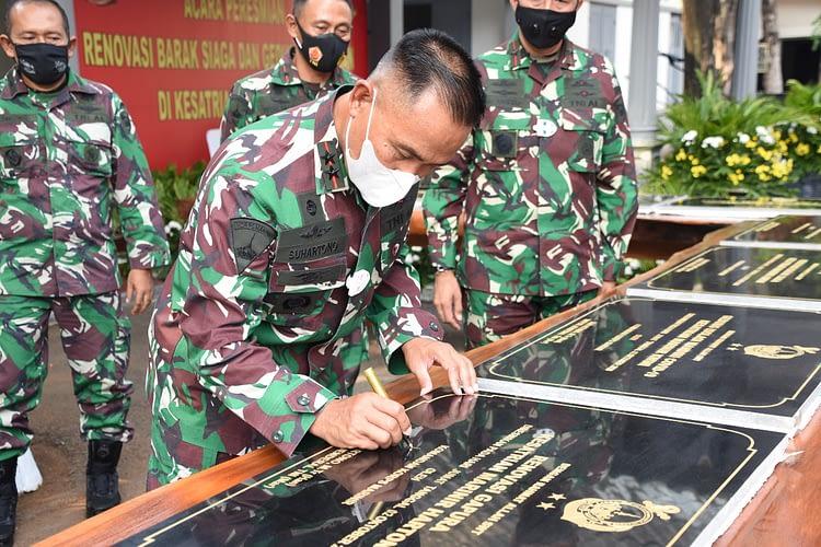 Dankormar Resmikan Renovasi Barak Siaga dan Gedung Kedinasan Lanmar Jakarta