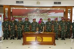 Komitmen Bersama Pimpinan Dan Staf Korps Marinir Dalam Pembangunan Zona Integritas