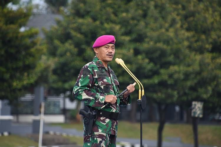 Danpasmar 1 Pimpin Apel Khusus Prajurit Pasmar 1 Wilayah Jakarta