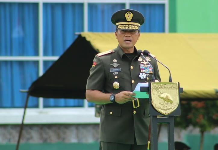Dikmata TNI AD Gel. II TA 2020 (OV) Kodam XVIII/Kasuari Ditutup