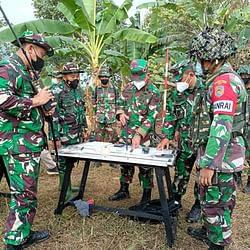 Resimen Artileri 1 Marinir Latihan LSD DA TW II TA 2021 di Sukabumi