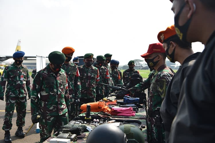Komandan PPRC Cek Langsung Kesiapan Satgas Udara di Lanud Halim