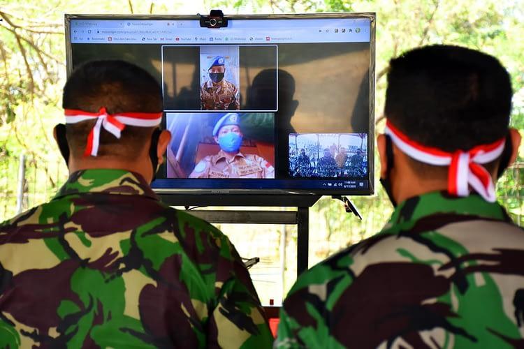 Prajurit Dan Pns Lanmar Jakarta Mengikuti Upacara Hut Kemerdekaan Ri Ke-75 Secara Virtual