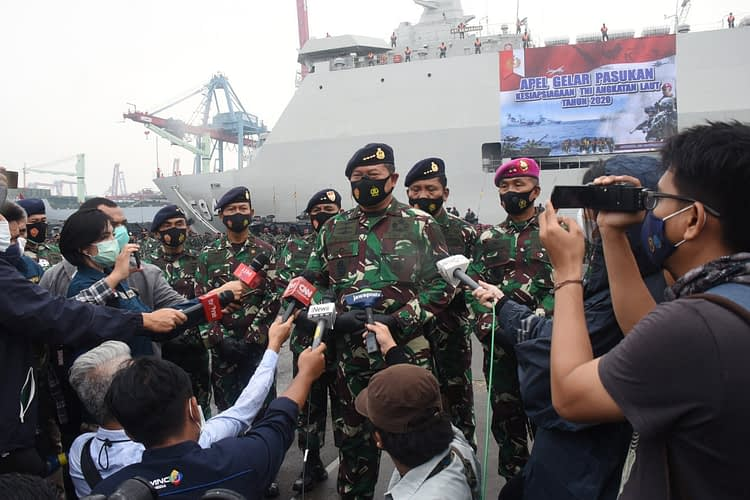 Prajurit Pasmar 1 Wilayah Jakarta Ikuti Apel Gelar Pasukan TNI AL Tahun 2020