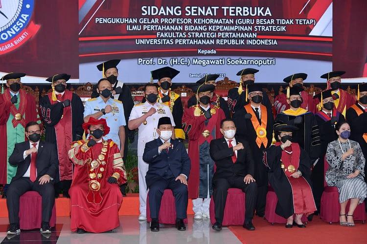 Kasau Hadiri Pengukuhan Gelar Profesor Kehormatan Presiden ke-5 RI