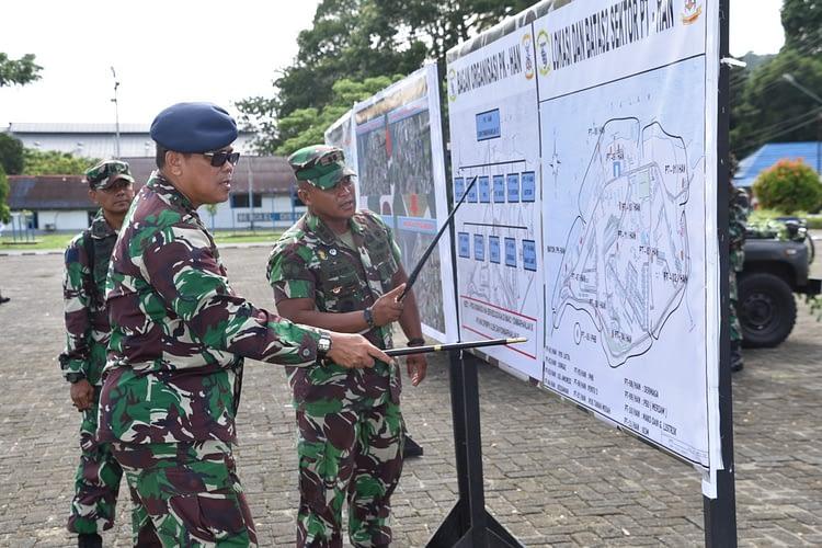 Prajurit Yonmarhanlan IX Laksanakan Uji Petik Dan  Uji Nilai Latihan P1 Dan P2