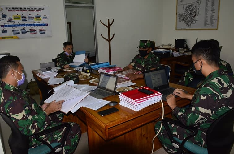 Tim Itjen TNI AL Laksanakan Wasrik  Di Mako Pasmar 1