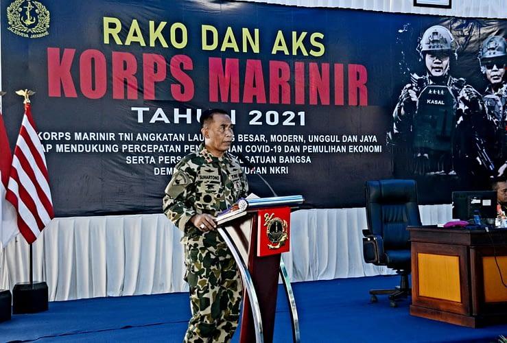 Dankormar Resmi Tutup Rako dan Aks Korps Marinir Tahun 2021