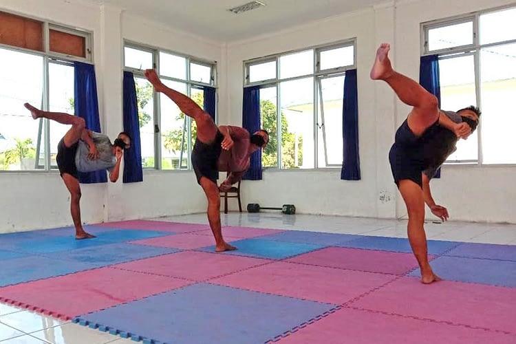 Prajurit Yobif 1 Marinir Asah Beladiri Taekwondo