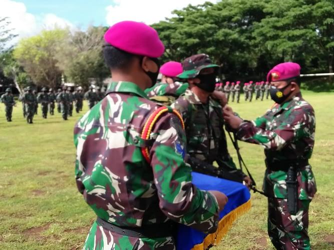 Komandan Komando Latih Korps Marinir Resmi Membuka Kursus Perwira Remaja Di Purboyo