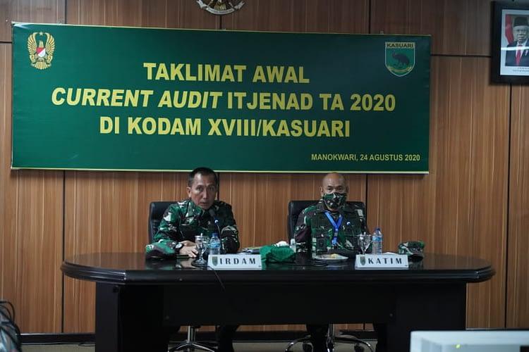 Taklimat Awal Current Audit Itjenad TA 2020 Kodam XVIII/Kasuari