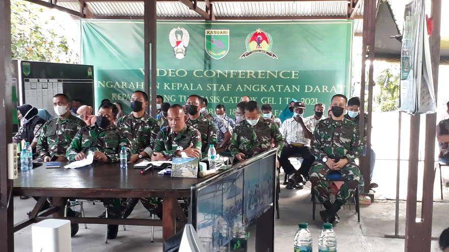 Lewat Teleconfrence, Kasad Sapa Orang Tua Casis Secata PK TNI AD di Fakfak