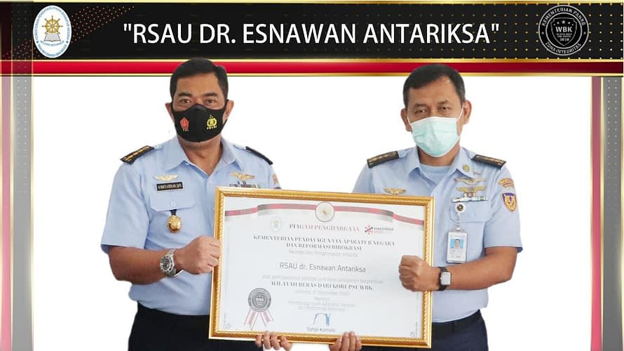 RSAU dr Esnawan Antariksa Raih Apresiasi dan Penganugerahan Zona Integritas 2020