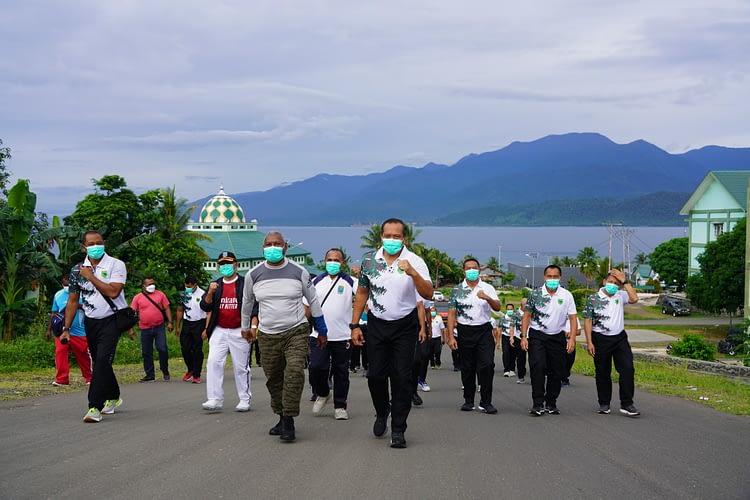 Perkuat Sinergitas, Pangdam Ajak Gubernur Papua Barat Olahraga Bersama di Makodam XVIII/Kasuari