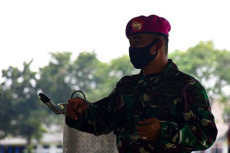 Satgas Covid-19 Resimen Artileri 2 Marinir Gelar Kesaksian Personil dan Material Dalam Rangka PAM Siaga BANGSITNAS