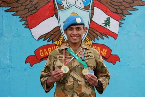TNI Juarai Marathon 5K di Lebanon Selatan