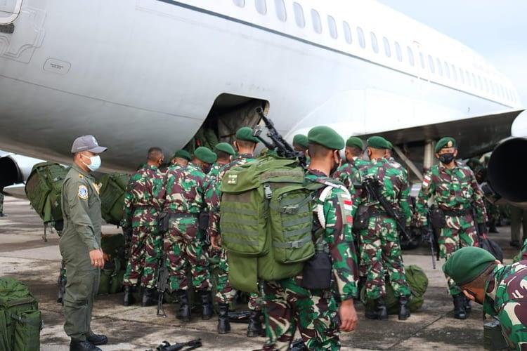 Empat pesawat TNI AU Angkut Satgas Penyangga Perbatasan RI-PNG