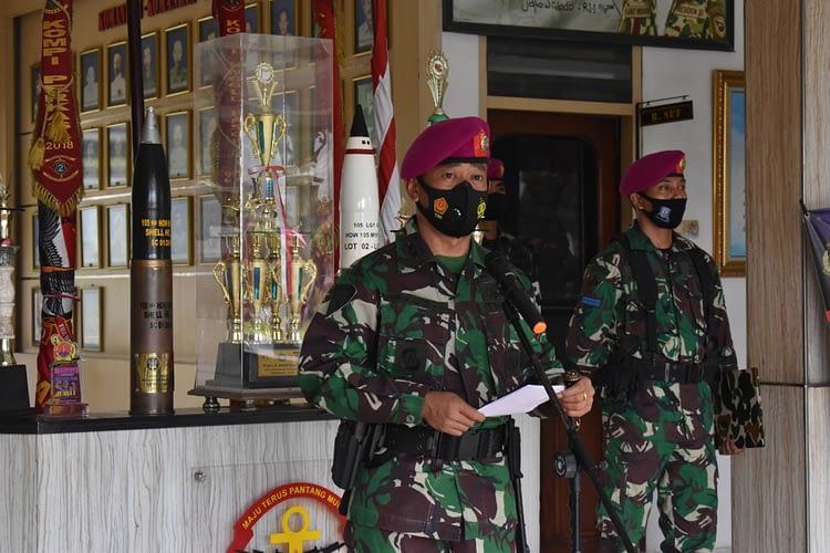 Danyonif 2 Mar Pimpin Upacara Tradisi Penerimaan Prajurit Baru