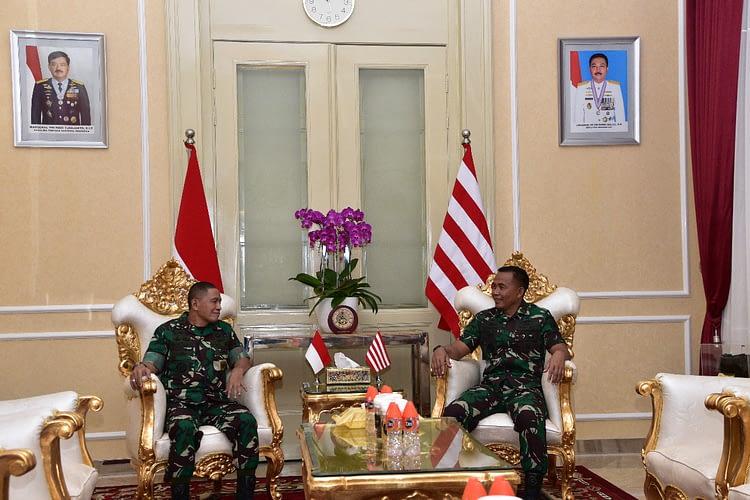 Dakormar Terima Kunjungan  Dankoopsus TNI