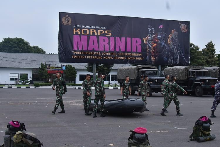Dankormar Berangkatkan Satgas Penanggulangan Bencana Banjir di Kalimantan