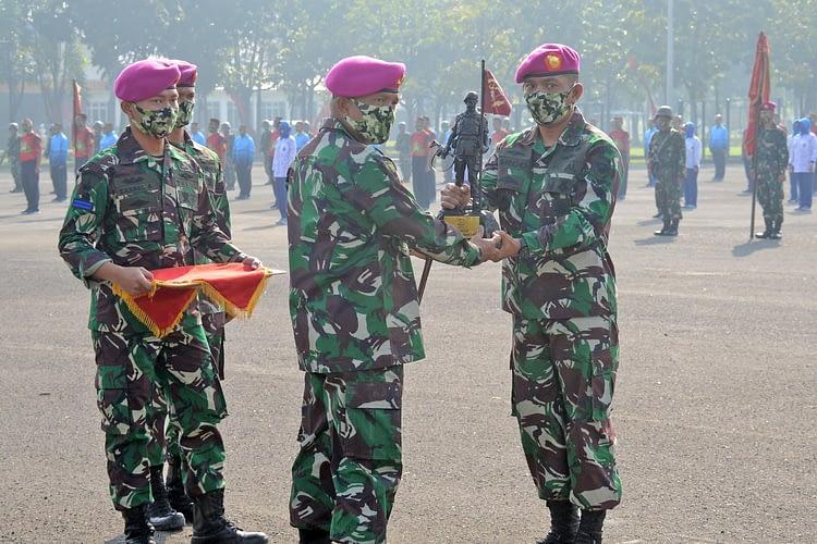 Jelang Lomba Batalyon Unggul, Yonif 5 Marinir Siapkan Tim Renang Militer