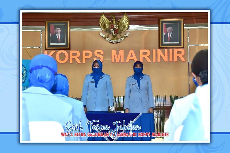 Mendorong Etos Kerja, Ketua Gabungan Jalasenastri Korps Marinir Pimpin Sertijab Wakil Ketua Gabungan Jalasenastri Korps Marinir