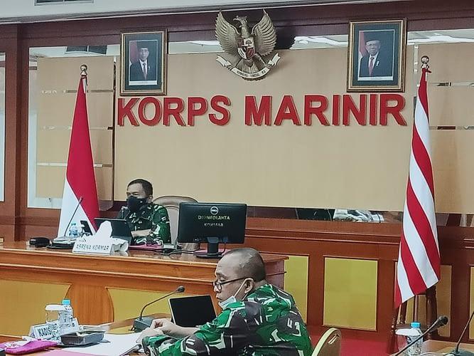 Asrena Korps Marinir Menyusun RKA KL UO TNI AL TA. 2022
