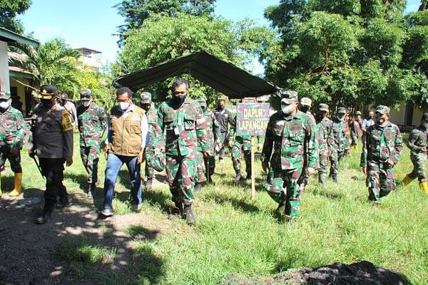 Dapur Lapangan TNI AD Siap Distribusikan Kebutuhan Makan Bagi Mayarakat Korban Banjir