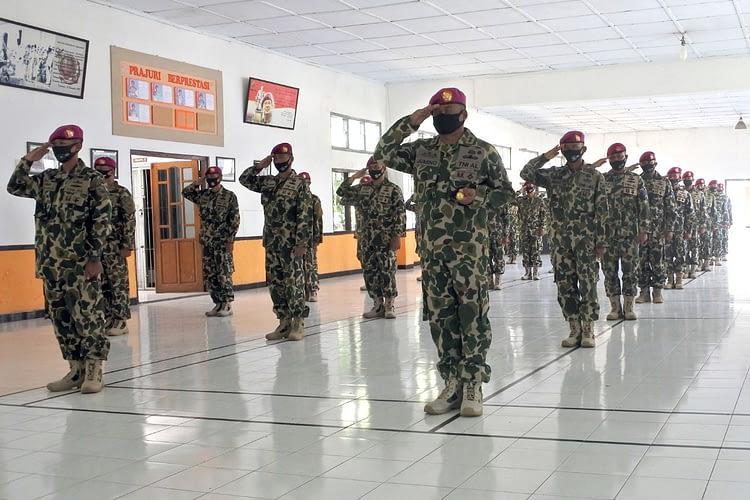 Prajurit Batalyon Howitzer 2 Marinir Ikuti Upacara HUT Ke-75 TNI Tahun 2020, Secara Virtual