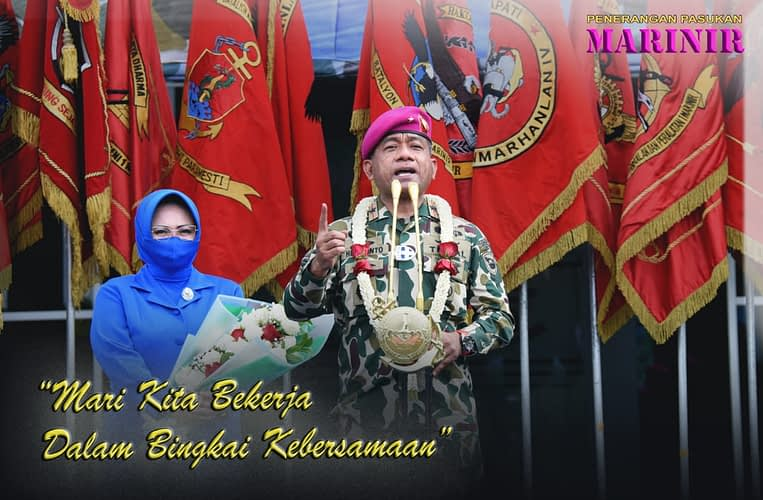 Brigadir Jenderal TNI (Mar) Hermanto Sang Komandan Anyar Prajurit Pasmar 1
