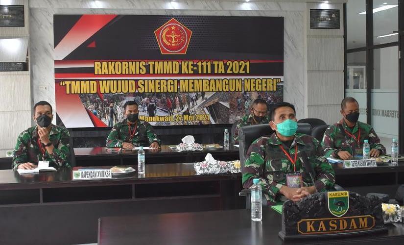 Kodim 1806/TB Penyelenggara TMMD Ke-111 TA 2021 di Wilayah Kodam XVIII/Kasuari