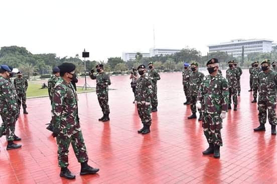 83 Perwira Tinggi TNI Naik Pangkat