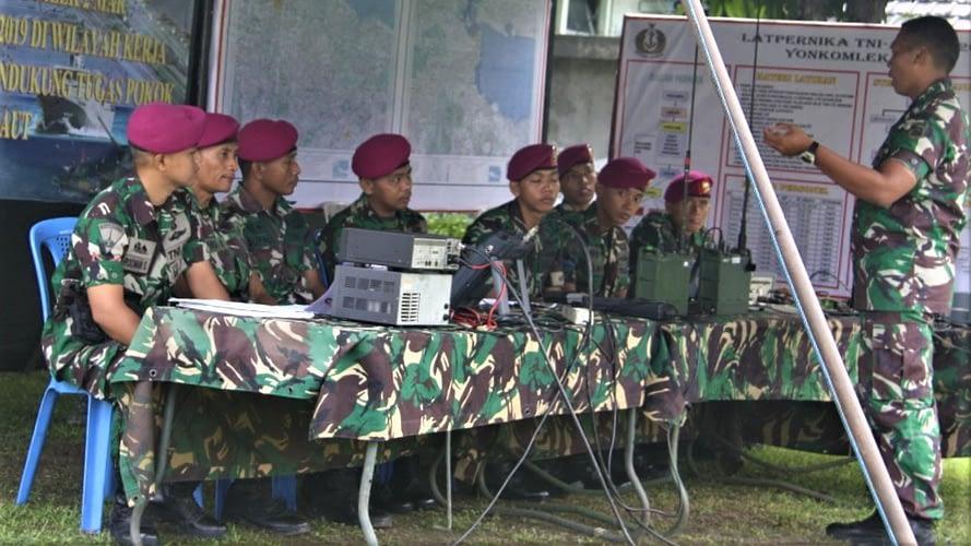 Yonkomlek 2 Marinir  Beserta Diskomlekal Laksanakan Latihan PERNIKA Tni Al Ta. 2019