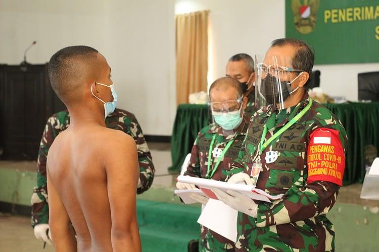 Pangdam Pimpin Sidang Pemilihan Tingkat Pusat Penerimaan Tamtama PK TNI AD Kodam XVIII/Kasuari