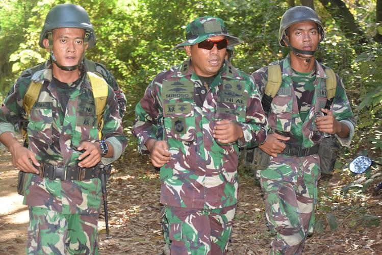 Binsat Batalyon Roket 2 Marinir Laksanakan Latihan Cross Country