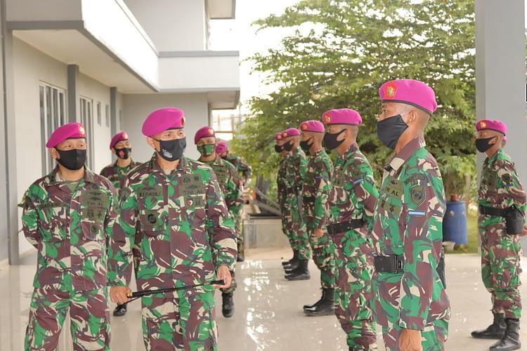 Danmenart 1 Mar Serahkan 19 Prajurit Muda ke Satuan Pelaksana Menart 1 Marinir