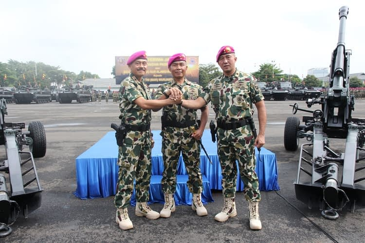 Brigjen TNI (MAR) Wurjanto ResmiJabat Komandan Pasmar 1