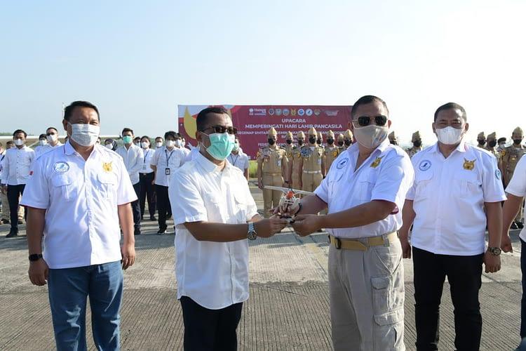 Tim Garuda Terbang Ikuti Puncak Peringatan Harlah Pancasila di API Banyuwangi