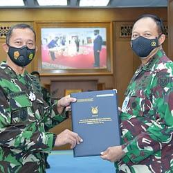 Kasau Terima Laporan Kenaikan Pangkat Enam Pati TNI AU