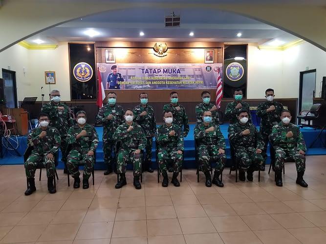 Kepala Dinas Kesehatan TNI AL Kunjungan Kerja di Rumkital Dr Midiyato Suratani Tanjung Pinang