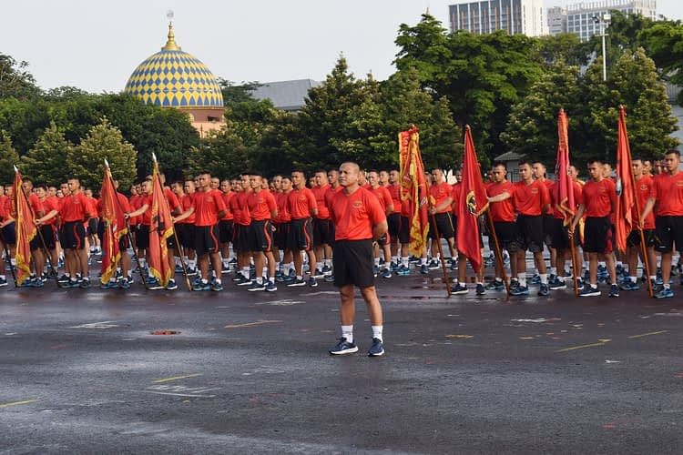 Jalin Kekompakan Antar Prajurit Brigif 1 Mar Gelar-olahraga-bersama
