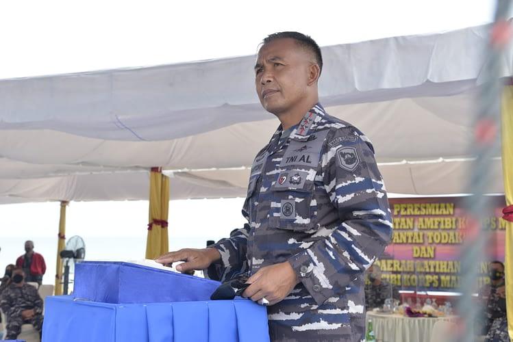 Pantai Todak Dabo Singkep Resmi Jadi Tempat Latihan Pendaratan Marinir