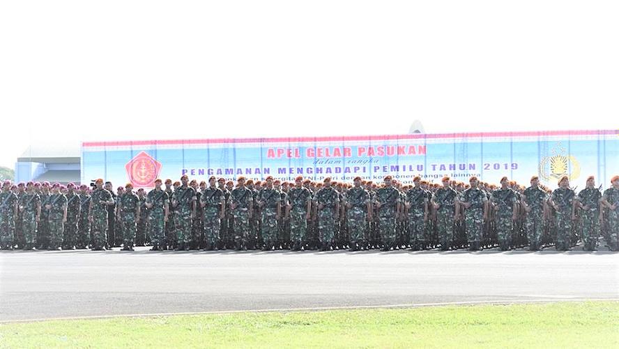 Ratusan Ribu Prajurit TNI-Polri Apel Pengamanan Pemilu 2019
