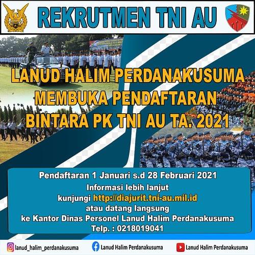Lanud Halim Buka Pendaftaran Prajurit TNI AU