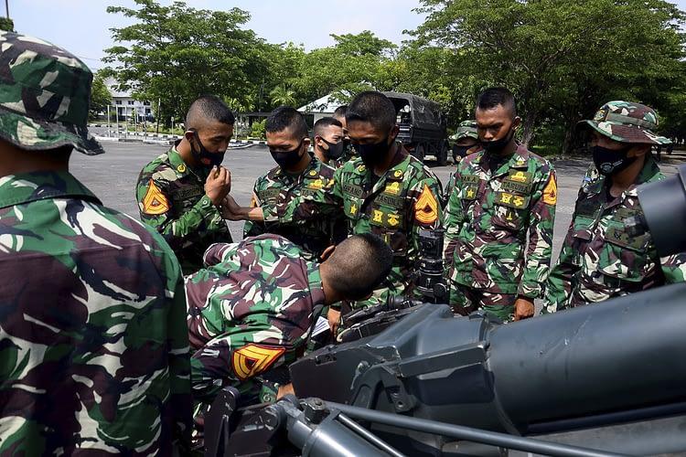 Batalyon Howitzer 2 Marinir Terima Kunjungan Siswa Lattek Bajra Yudha Kadet AAL Angkatan 68